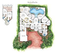 Habitations Home Plans  Specializing In Unique Custom And Luxury Luxury Custom Home Floor Plans