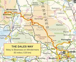 Pennine Way Distance Chart The Route