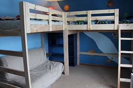 cool bunk bed fort. Wooden Loft Bunk Bed Plans DIY Blueprints Classic Beds Building Yet Modern Need Not Be Confined To The Kids Room Cool Fort