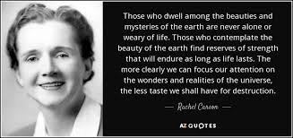 Quotes About The Beauty Of The Earth Best of TOP 24 QUOTES BY RACHEL CARSON Of 24 AZ Quotes