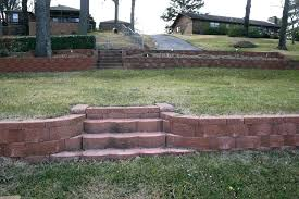 retaining wall step how to build a brick wall step by step terraced retaining wall steps