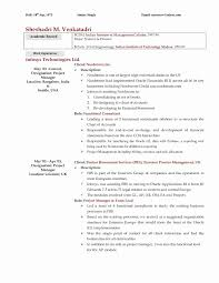 Resume Format For Automobile Industry Inspirational Resume Examples