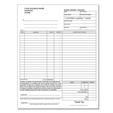 Products Order Form Custom Work Order Forms Designsnprint