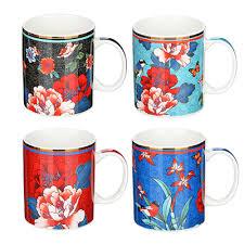 <b>Кружка</b> 340 мл, MILLIMI <b>Японский сад</b>, керамика, 4 дизайна в ...