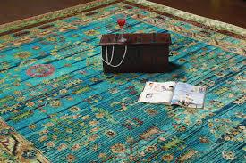 rugsville ikat light blue sari silk 30012 8x10 rug