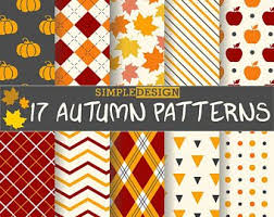 Fall Patterns Best Glitter Autumn Paper Pack Autumn Seamless Patterns Fall Etsy