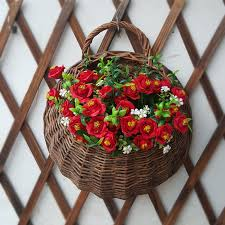 get ations wicker baskets wicker pots decorative wall flower wall hanging flower pots hanging basket hanging rattan baskets
