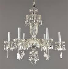czech crystal chandelier c1930 antique vintage glass ceiling light fixture