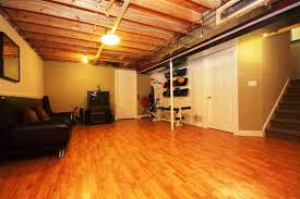 Unfinished Basement Floor Ideas Impressive With Picture Of Property At  Design ...