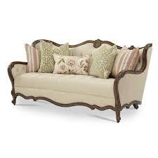 Michael Amini Living Room Furniture Michael Amini Lavelle Melange Wood Trim Tufted Sofa By Aico For