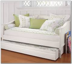simple and neat small bedroom decoration using pop up trundle daybed frames gorgeous girl white