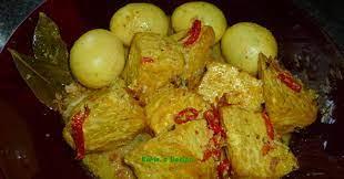 Sayur tempe kuah pun siap. Bumbu Tempe Bacem Kuning