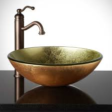Glass Sink Bathroom Metallic Gold Glass Vessel Sink Vessel Sinks Bathroom Sinks