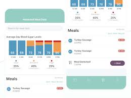 Meal Tracking Continuous Blood Glucose Monitor Historical Meal Data By