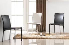 leatherette dining chair in black brown or white