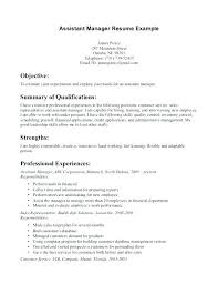 Restaurant Manager Resume This Is Assistant Manager Resume Store