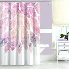 pink shower curtain and bath mat fl curtains bathroom rug modern purple decor window showe