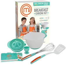 Amazon.com: MasterChef Junior Breakfast Cooking Set - 6 Pc Kit Includes  Real Cooking Tools for Kids and Recipes: Toys & Games
