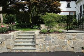 landscape retaining wall steps and