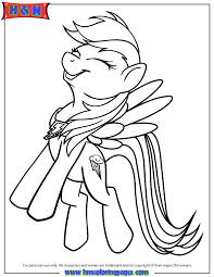 Small Picture My Little Pony Rainbow Dash Coloring Page H M Coloring Pages