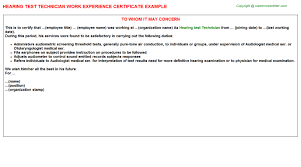 Sample Letter To Dmv Dmv Technician Experience Letters