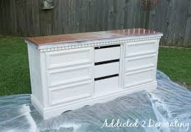 Distressed antique furniture Aged White Instructions Addicted To Decorating How To Paint Distress And Antique Piece Of Furniture Addicted