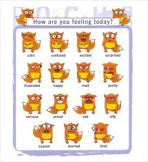 How Are You Feeling Today Printable Chart 10 Sample Feelings Charts Pdf