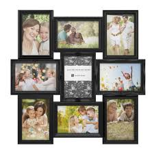 lavish home 9 opening 4 in x 6 in black picture frame collage