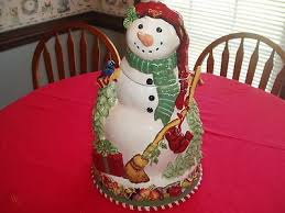 NEW IN BOX TRACEY PORTER ''THE WINTERLAND COLLECTION'' SNOWMAN COOKIE JAR |  #253465542