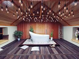 reclaimed industrial lighting. stunning industrial lighting and reclaimed wood flooring in the asian bathroom decoist chiesa famiglie e bellezza