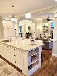 kitchen design off white cabinets. Interesting Design White Kitchen Offwhite Cabinets Sherwin Williams Conservative Gray New  Venetian Gold Granite Open Layout Floor Plan Concept Hickory Wood  With Kitchen Design Off Cabinets D