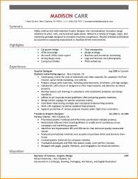 Resume Examples Graphic Design 85 Images 25 Examples Of