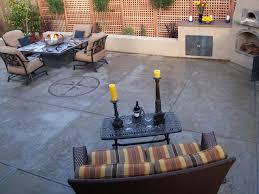 concrete patio with square fire pit. Concrete Patios Patio With Square Fire Pit