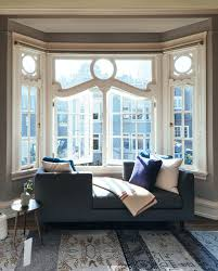 bay window furniture living. Bay Window Furniture Living Room Contemporary With Sets Of Tea Light Candles Pillar