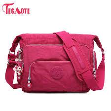 TEGAOTE Luxury <b>Women Messenger Bag Nylon</b> Shoulder Bag ...
