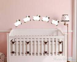 little sheep nursery decal