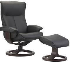 fjords senator ergonomic leather recliner chair and ottoman scandinavian