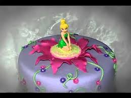 Diy Tinkerbell Cake Decorations Youtube