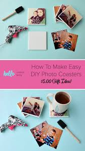 turn your favorite family photos into gorgeous diy photo coasters this project is an easy