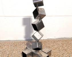 google modern office sculpture. Google Modern Office Sculpture. Desktop Metal Sculpture, Steel Cube Art, Geometric Sculpture