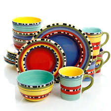 multi colored dish sets interior stunning colorful plastic dinnerware sets dishes glass striped multi colored stoneware colorful dinnerware sets multi