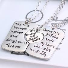 2016 i love you moon mom dad necklace pendant for son daughter family gift clic mother dady love necklace charm jewelry