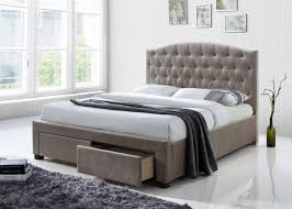Eastern king mattress One Half Toytheaterclub Acme Denise Eastern King Bed With Storage Mink Fabric 25667ek