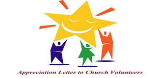 letter for volunteers sample appreciation letter to church volunteers assignment