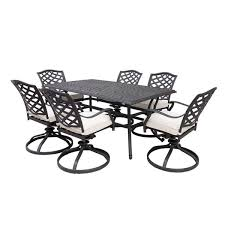 paseo 7 piece outdoor dining set with
