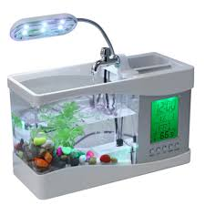 office desk fish tank. Wondrous Cool Office New Usb Desktop Electronic Desk Aquarium Fish Tank