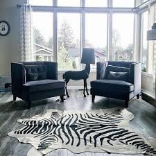 zebra cowhide rug size 7 x 6 5 brazil black striped zebra print cowhide