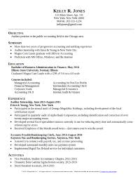 College Grad Resume Sample