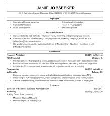 Resume Undergraduate Sample Resumes 95