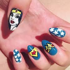Wonder Woman Nail Art | POPSUGAR Beauty